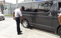 Forward Garde Security Services work in Sri lanka , vehical inspection using security equipment